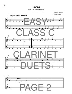 Easy Classic Clarinet Duets Web Sample2
