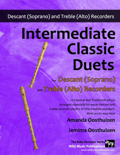 Intermediate Classic Duets for Descant and Treble Recorders