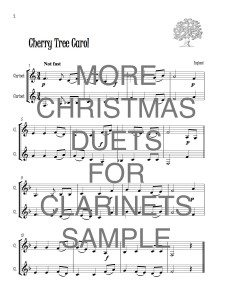 More Christmas Duets for Clarinets web sample