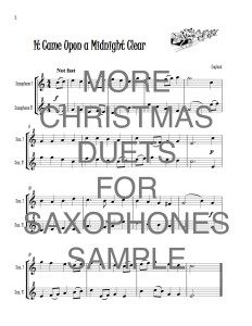 More Christmas Duets for Saxophones web sample