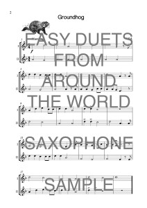 Easy Duets from Around the World for Saxophones Web Sample