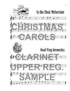 The Catchy Clarinet Book of Upper Register Christmas Carols Web Sample