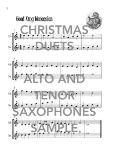Christmas Duets for Alto and Tenor Saxophones Web Sample