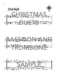 Christmas Duets for Bassoon and Trombone Web Sample