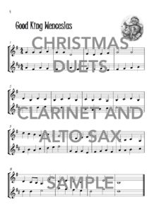 Christmas Duets for Clarinet and Alto Saxophone Web Sample