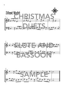 Christmas Duets for Flute and Bassoon Web Sample