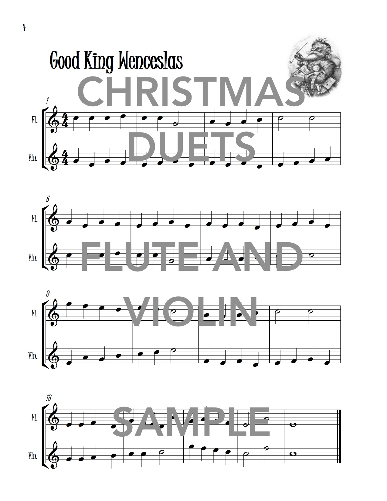 Christmas Duets.Christmas Duets For Flute And Violin Download