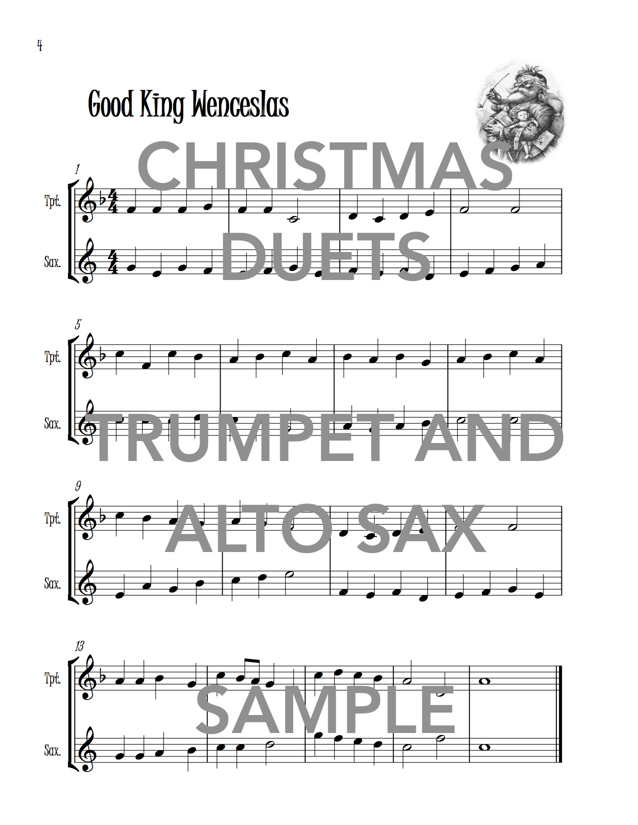 Christmas Duets.Christmas Duets For Trumpet And Alto Saxophone Wild Music