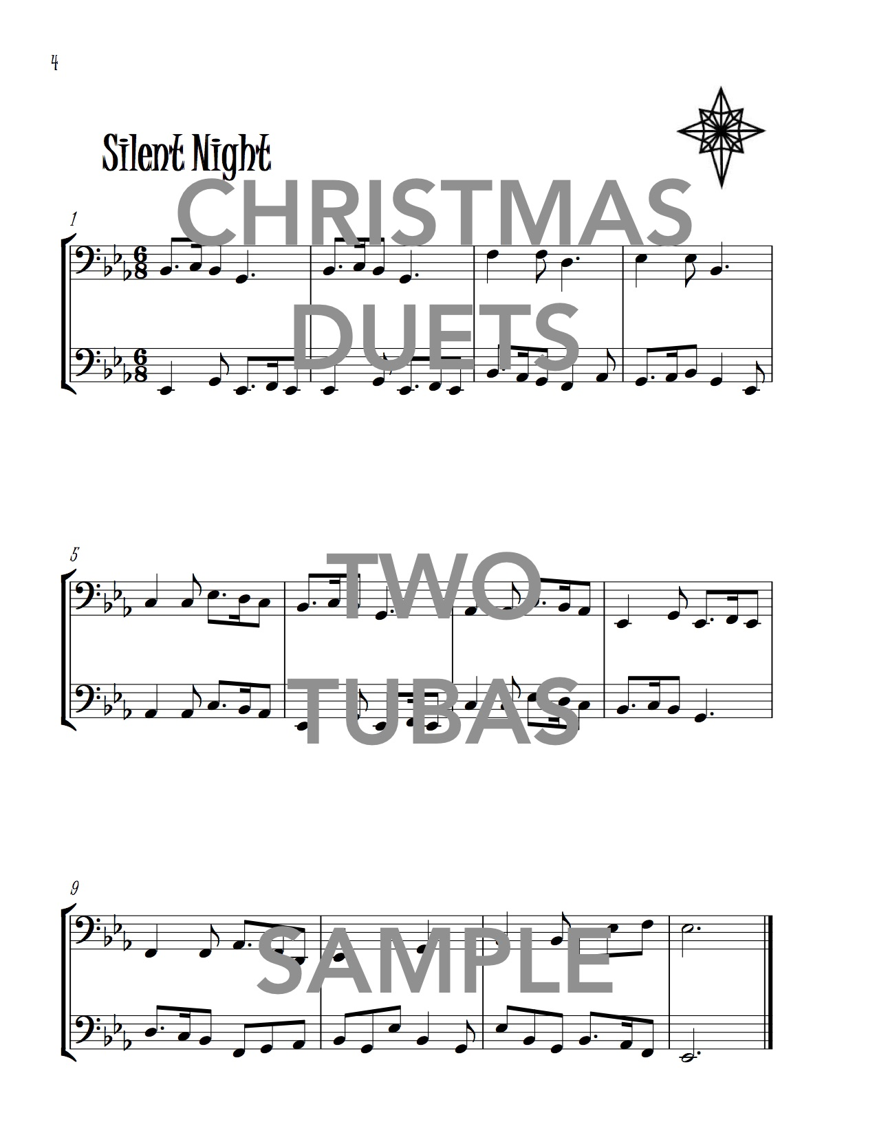 Christmas Duets.Christmas Duets For Two Tubas Wild Music Publications