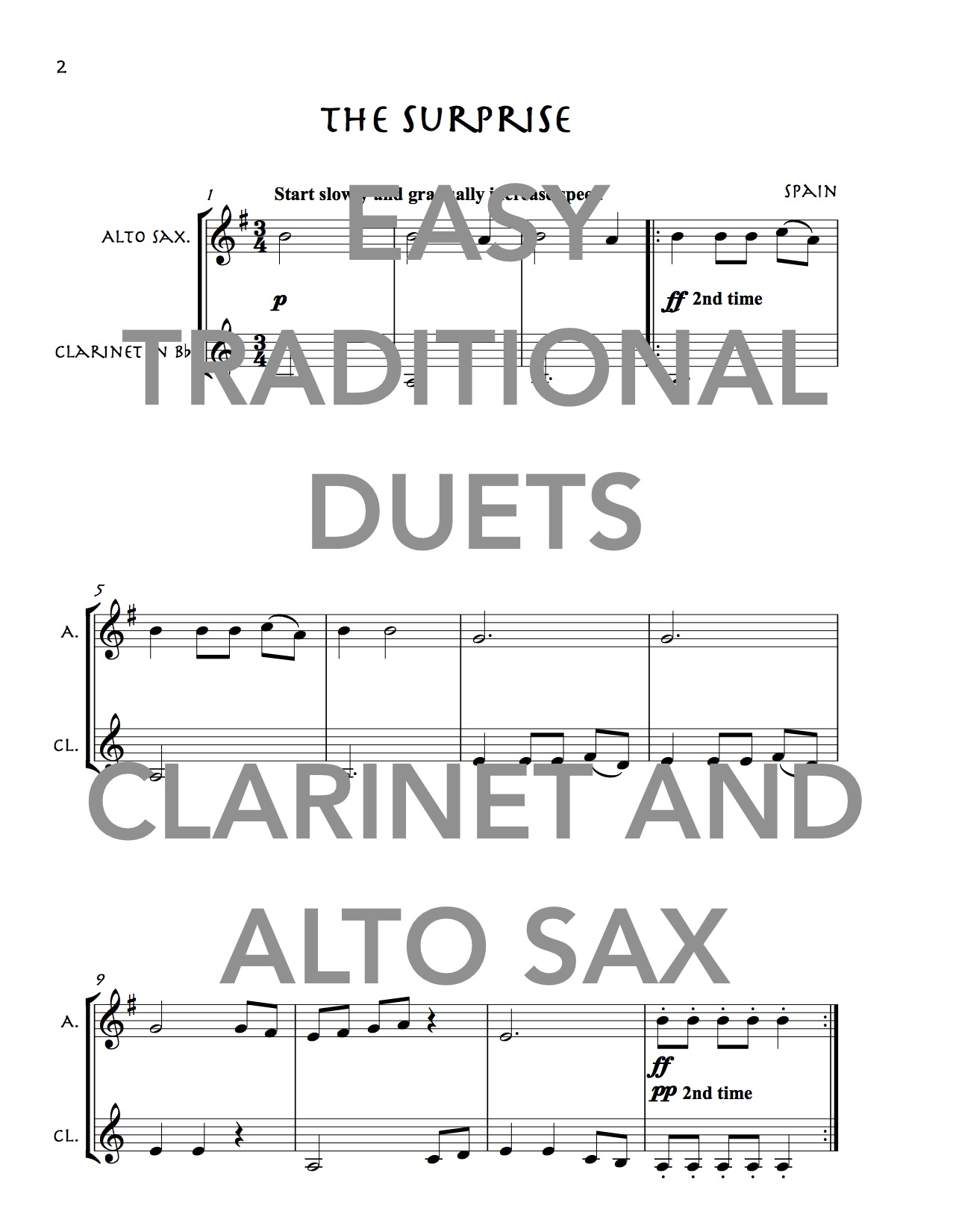 Easy Traditional Duets for Clarinet and Alto Saxophone