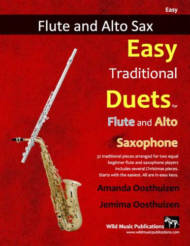 Easy Traditional Duets for Flute and Alto Saxophone