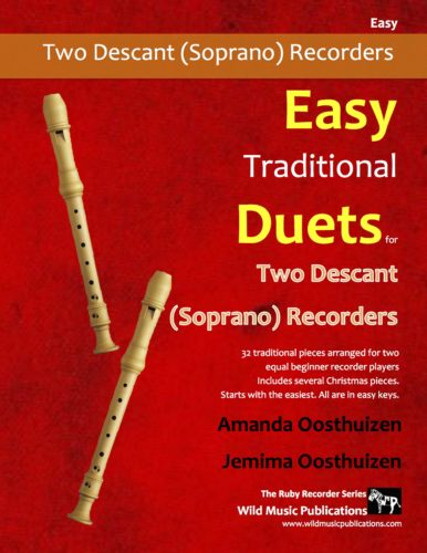 Easy Traditional Duets for Two Descant Recorders