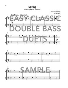 Easy Classic Double Bass Duets Web Sample