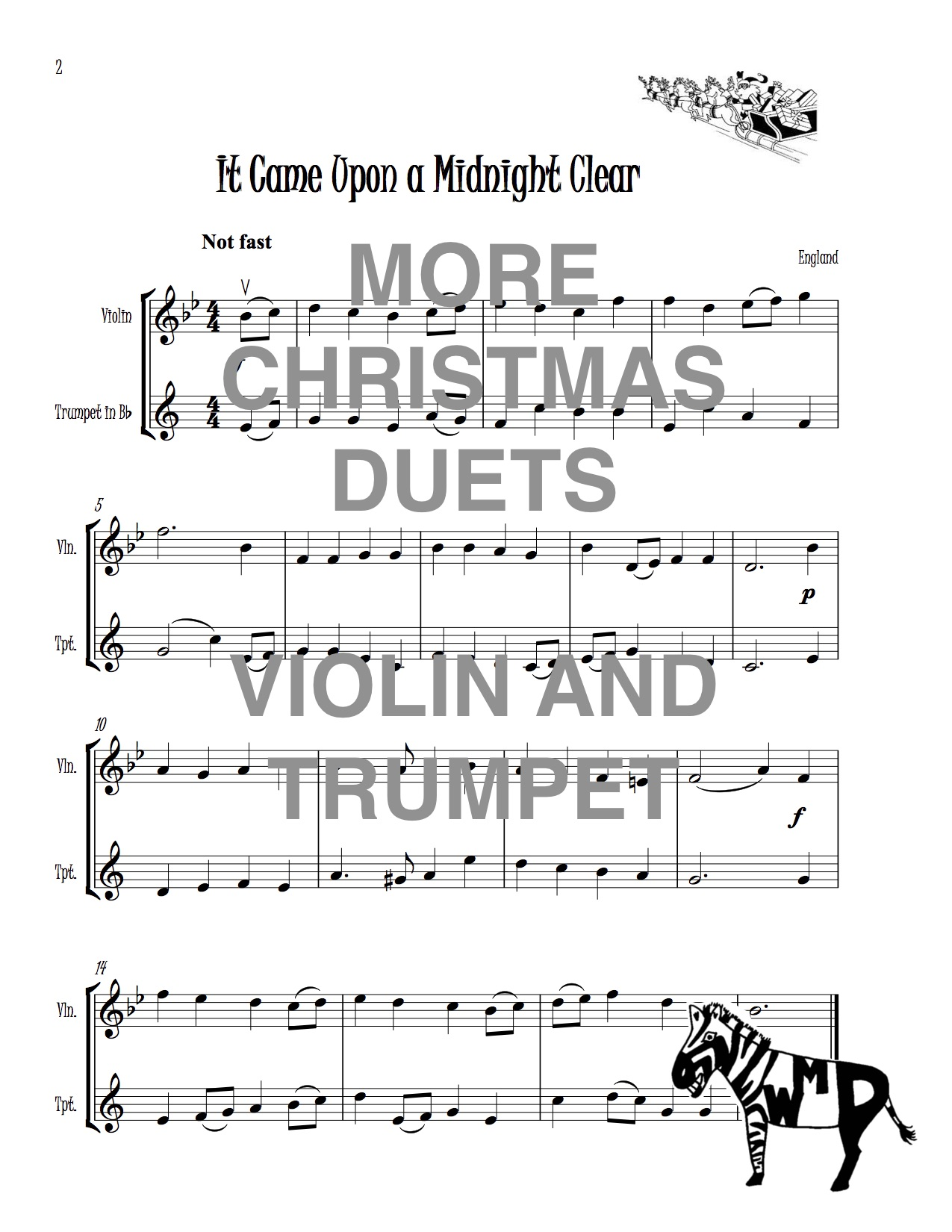 Christmas Trumpet Songs.More Christmas Duets For Violin And Trumpet Download