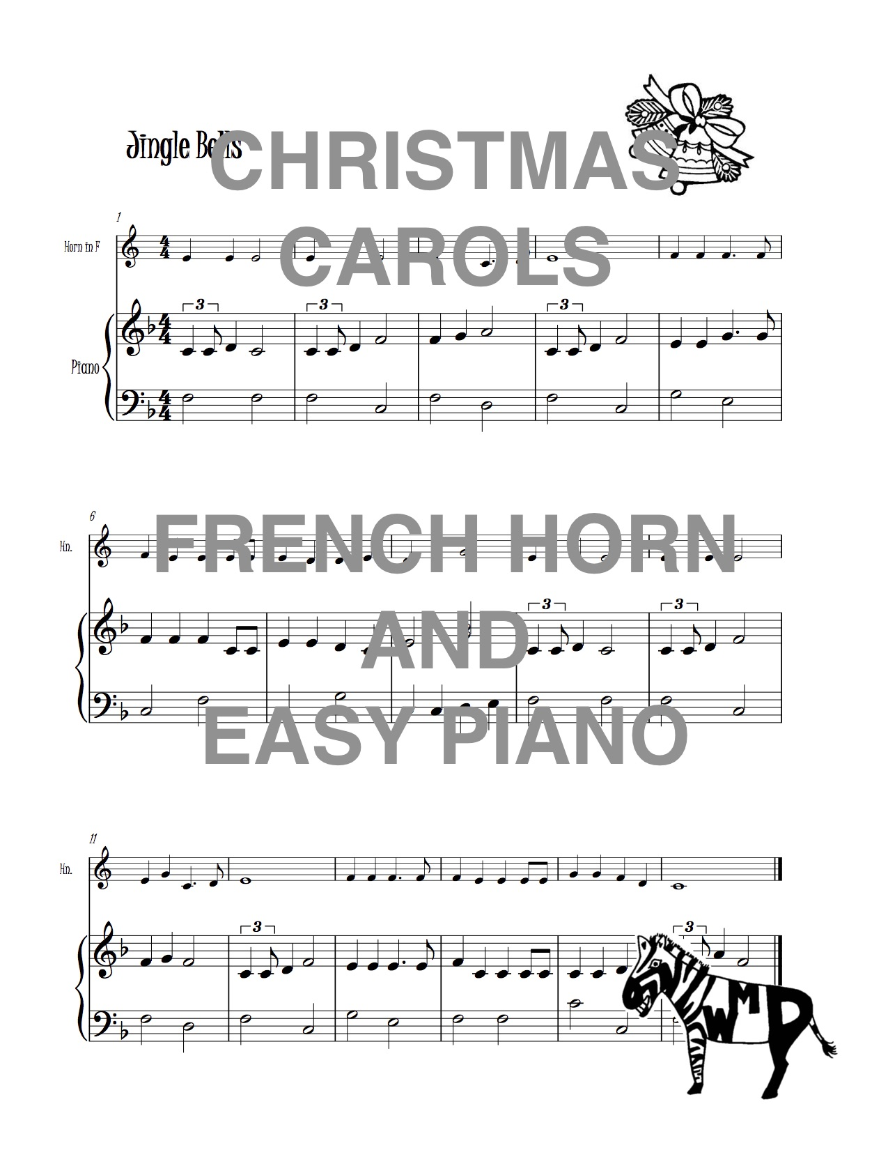 Piano Christmas Music.Christmas Carols For French Horn And Easy Piano Download