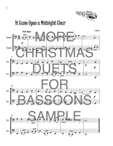 Bassoon Christmas Duets web sample