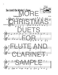 More Christmas Duets for Flute and Clarinet web sample
