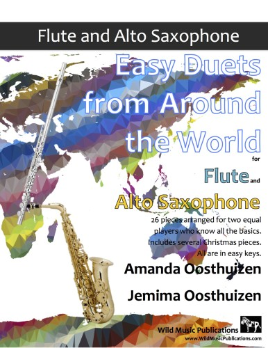 Easy Duets from Around the World for Flute and Alto Saxophone