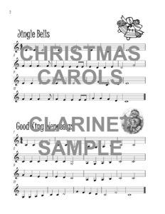 The Catchy Clarinet Book of Christmas Carols Web Sample