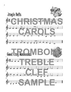 The Terrific Trombone Book of Christmas Carols in Treble Clef Web Sample