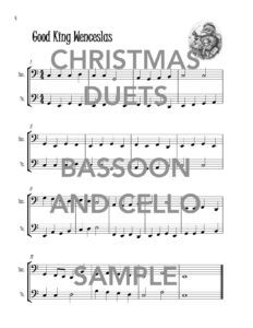 Christmas Duets for Bassoon and Cello Web Sample