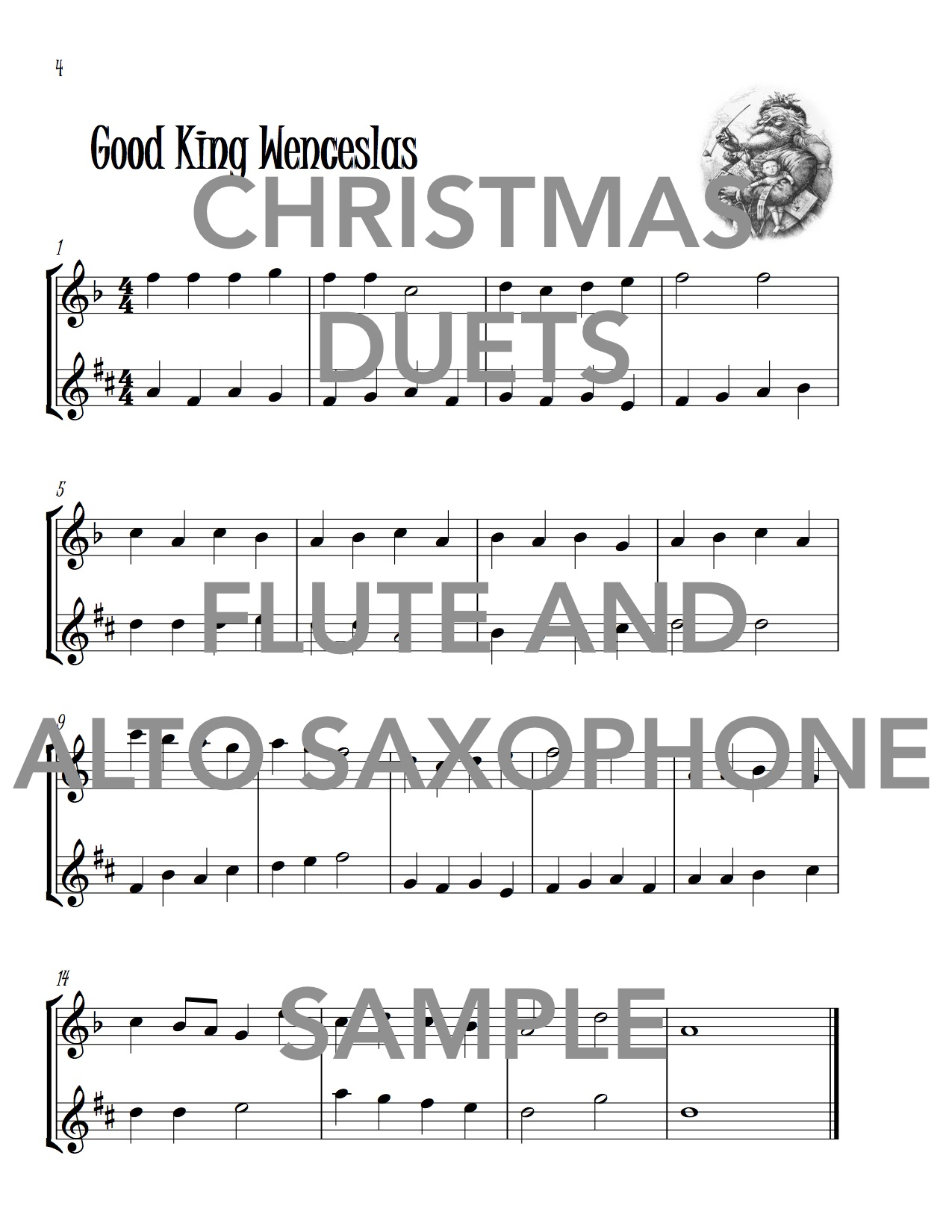 Christmas Duets for Flute and Alto Saxophone