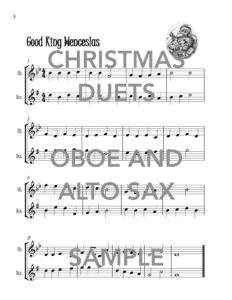 Christmas Duets for Oboe abd Alto Saxophone Web Sample